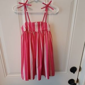 Hot pink striped dress